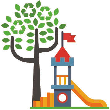 the green play house device square tight